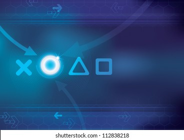 Abstract technology background - vector illustration  game play symbol