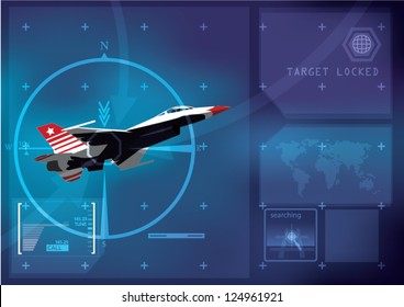 Abstract technology background - vector illustration focus lock-on the target