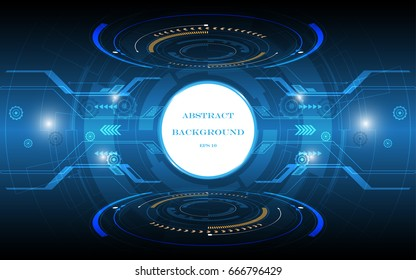abstract technology background white circle space vector design