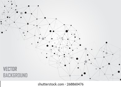 Abstrakte Technologie-Hintergrund.Geometrischer Rahmen-Hintergrund.Polygonaler Vektorhintergrund.