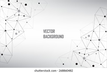 Abstract  technology background.Geometric wireframe background.Polygonal vector background.