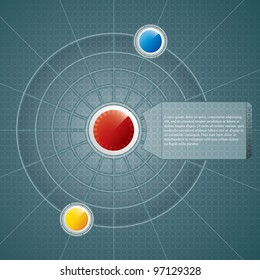 Abstract technology background.Vector