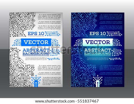 abstract technology brochure technology scheme book stock vector