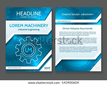 Abstract Technology Brochure Template Modern Digital Image