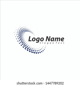 Abstract Technology business logo design.