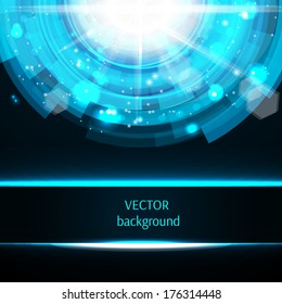 Abstract technology circle background. Vector illustration.