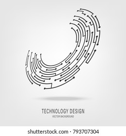 Abstract technology circuit board circle background