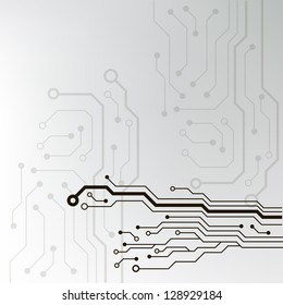 abstract technology circuit board vector background