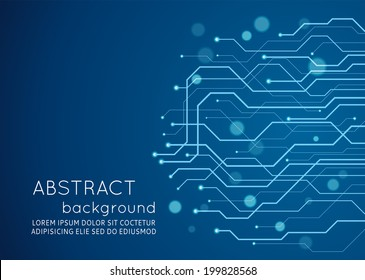 Abstract technology circuit board, Vector background.