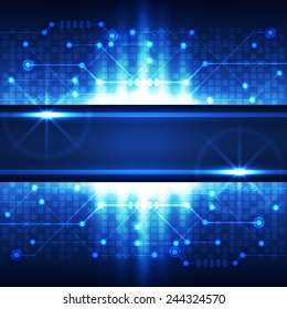 Abstract technology concept blue background. Vector illustration