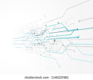 abstract technology concept design with wire mesh