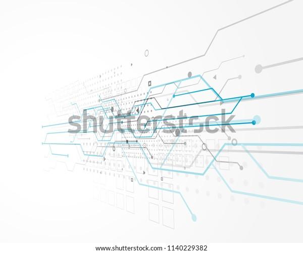 abstraktes Technologiekonzept mit Drahtgitter