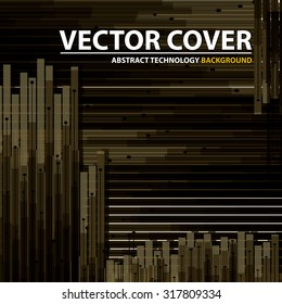 Abstract technology contour objects. Financial business presentation. Light futuristic concept, digital light and dark  brown. Vector modern background