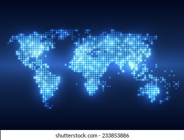 Digital world map images stock photos vectors shutterstock abstract technology digital backgrounds with world map gumiabroncs Choice Image