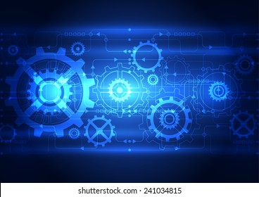 Abstract technology digital concept background, vector illustration