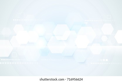 Abstract technology digital hi tech hexagons concept background