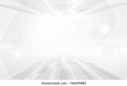 Abstract technology digital hi tech geometric concept background. Space for your text