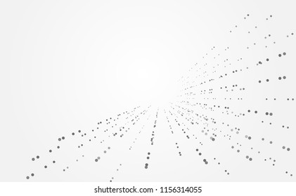 abstract technology futuristic concept circle dot gray digital on hi tech future gray background network. for template,web design wallpaper,poster,presentation.Vector illustration