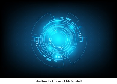 Abstract Technology Futuristic Interface.Element of digital UI.vector and illustration