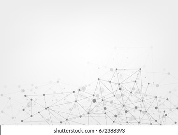 Abstract technology futuristic network. Vector illustration