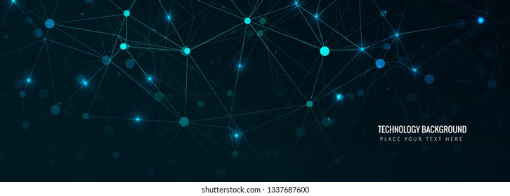 Abstract technology header background