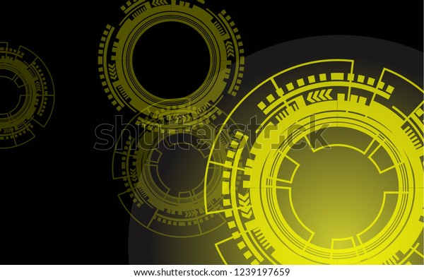 Abstract Technology Hightech Wallpaper Stock Vector Royalty