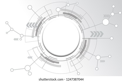 Abstract technology high-tech wallpaper in circle space technology style