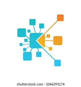 Abstract technology logo, vector logo template