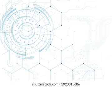 Abstract technology speed concept. vector background. Abstract technology circle blue innovation concept on a white background. Vector illustration.