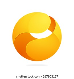Abstract technology sphere logo. High quality vector template.