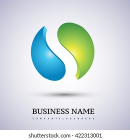 Abstract technology sphere logo. S letter logo. Vector design template elements for your application or company identity.