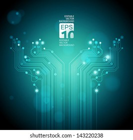 abstract technology tree background - vector