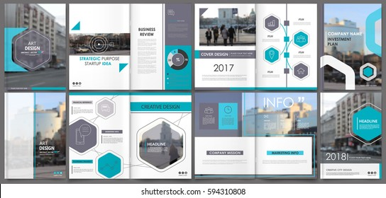 Abstract template for a4 brochure cover design, Banner frame, ad flyer, text font, title sheet model set, strategic info. Modern vector front page art with urban city street texture. Blue figures icon