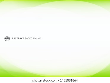 Abstract template elegant header and footers green lime curve light template on white background with copy space. Vector illustration