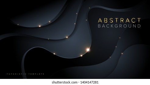 An abstract template in futuristic style.  It is suitable for being as a background template, landing page in science, or technology related theme.