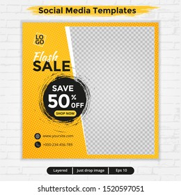 Abstract template post for social media, template for fashion sale ads, file with layered and eps 10
