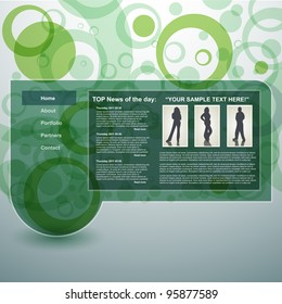 Abstract template, vector