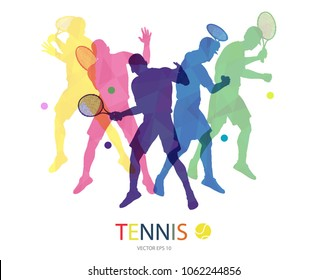 Abstract tennis player design