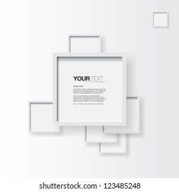 Abstract text box with white frame on clear background vector