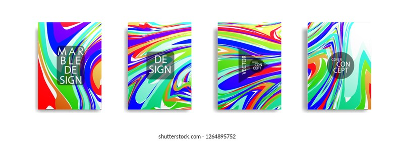 The abstract texture of brightly colored liquid paint. vector cover book with marble color on eps 10