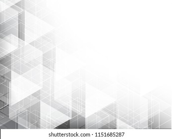 Abstract texture geometric white and gray with space modern design on Light gray background, vector illustration