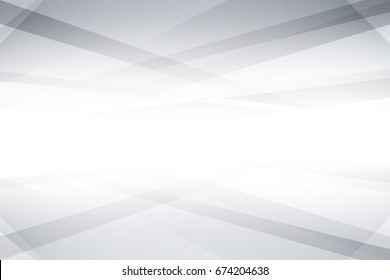 Abstract texture geometric White and gray color technology modern futuristic background, vector illustration