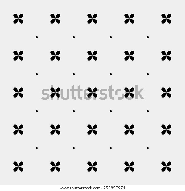 Abstract Texture Monochrome Flowers Cute Background Stock Vector ...