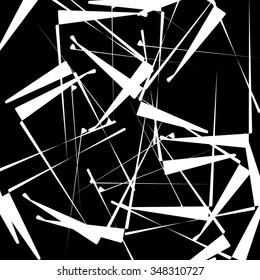 Abstract texture with scattered shapes / lines. Vector art.