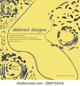 Abstract Texture Vector Art an Soft yellow and Dark grayish cyan color. Elements are not cropped. Perfect design for web page, posters, cards, box etc.
