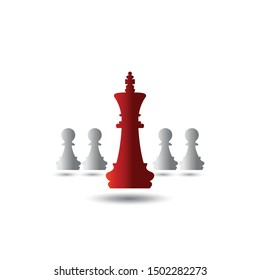 Abstract textured vector of a king of chess
