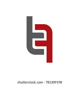 Abstract TF Initials Logo Vector