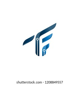Abstract TF letter initial logo. symbol of TF geometry, alphabet icon vector logo template. minimalist and modern initial logo or signature.