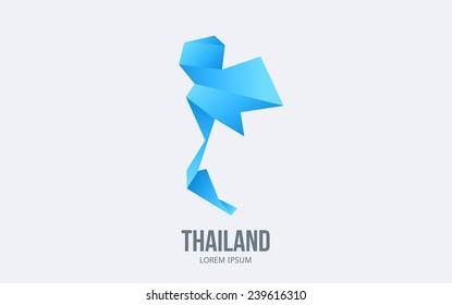 Abstract Thailand logo. Vector logotype design.