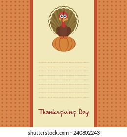 abstract Thanksgiving day background with some special objects